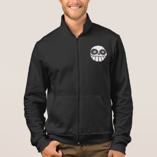 Brujos Locos Skull Men's Zip Up Track Jacket Black