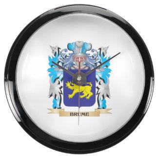 Brume Coat of Arms Aquarium Clock