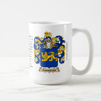 Brumfield, the Origin, the Meaning and the Crest Classic White Coffee Mug