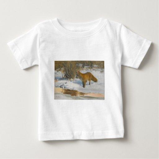 Brun o Liljefors - paisaje del invierno con el Fox Playera
