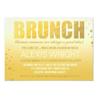"""Brunch 311 porque naranja Ombre del Mimosa Invitación 5"""" X 7"""""""