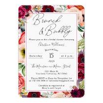 Brunch and Bubbly Boho Bridal Shower Invitations