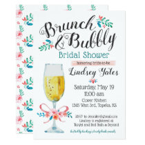 Brunch and Bubbly Bridal Shower Card