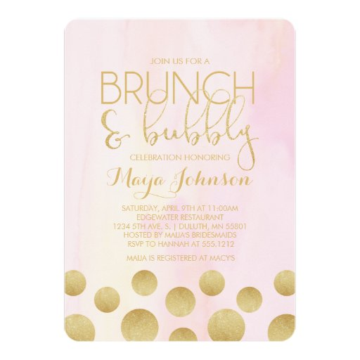 Brunch Bridal Shower Invitations with beautiful invitation example