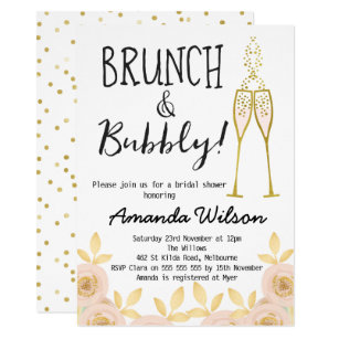 725eaf35b19f91 Brunch And Bubbly Bridal Shower Invitation