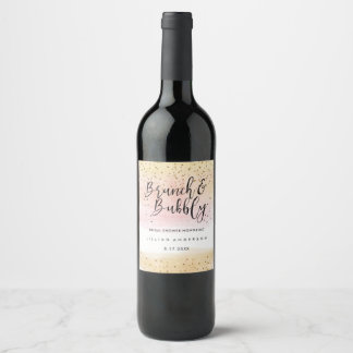 Brunch and Bubbly Bridal Shower Wine Label