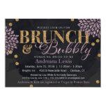 Brunch and Bubbly Glitter Watercolor Shower Invite