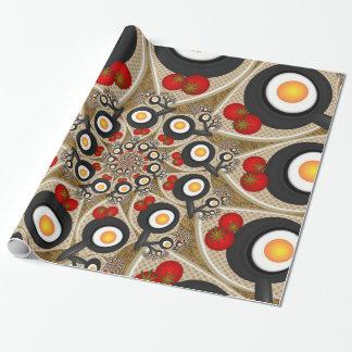 Brunch, arte del fractal para las cocinas y papel de regalo