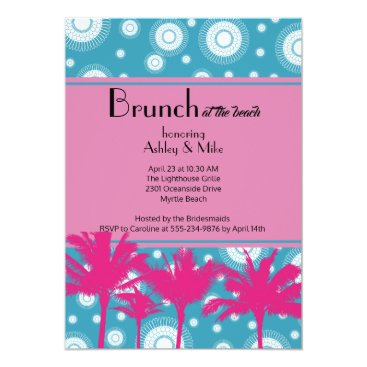 Beach Themed Brunch at the Beach Party Invitation