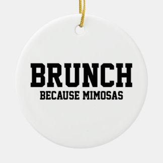 Brunch Because Mimosas Ceramic Ornament