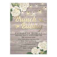 Brunch & Bubbly Bridal Shower Floral String Lights Invitation