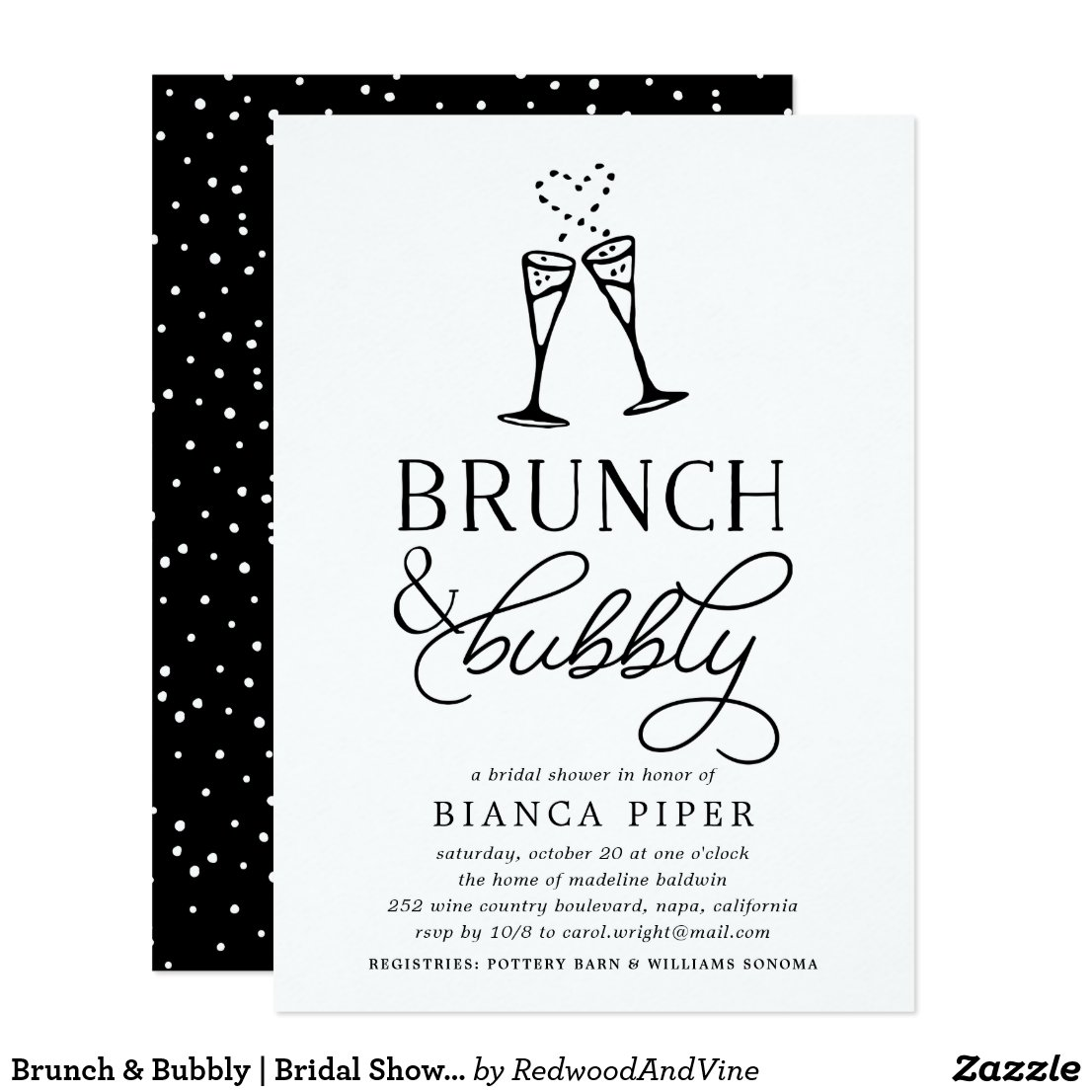 Brunch & Bubbly | Bridal Shower Invitation