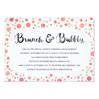 Brunch & Bubbly | Bridal Shower Invite