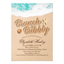 Brunch Bubbly Bridal Shower Summer Beach Starfish Card