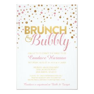 Brunch & Bubbly Glitter Bridal Shower Invitation