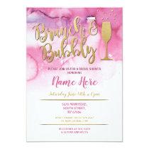 Brunch & Bubbly Pink Gold Bridal Shower Invite
