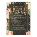 Brunch & Bubbly Vintage Dots Bridal Shower Card