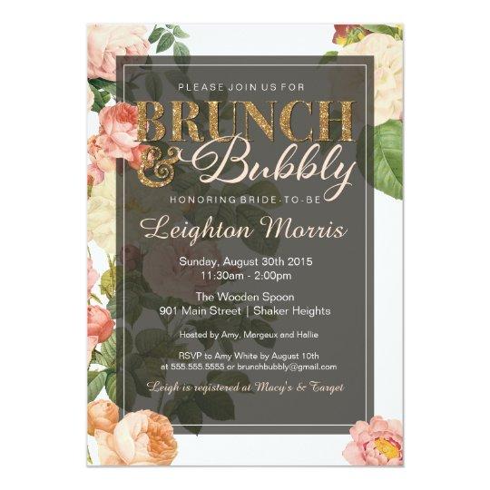 Bridal Shower Brunch Invitation