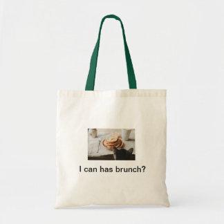 Brunch Cat Tote Canvas Bags