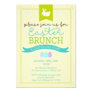 Brunch de Pascua y invitación de la caza del huevo