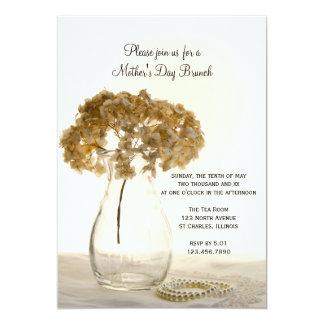 """Brunch del día de madre secada del Hydrangea Invitación 5"""" X 7"""""""