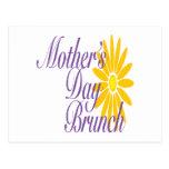 Brunch del día de madres tarjetas postales