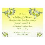 Brunch floral amarillo del boda comunicado