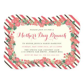 """Brunch floral del día de madre de la guirnalda invitación 5"""" x 7"""""""