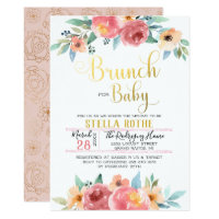 Brunch for Baby - Spring Flowers Invitation
