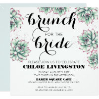 Brunch for the Bride Succulent Shower Invitation
