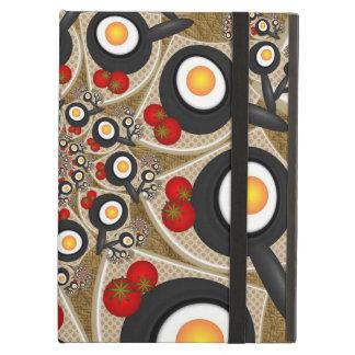 Brunch Fractal Art Funny Food, Tomatoes, Eggs iPad Air Case