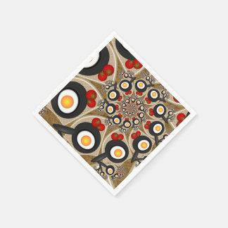 Brunch Fractal Art Funny Food, Tomatoes, Eggs Paper Napkin