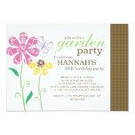 Brunch Garden Party Birthday Invitations