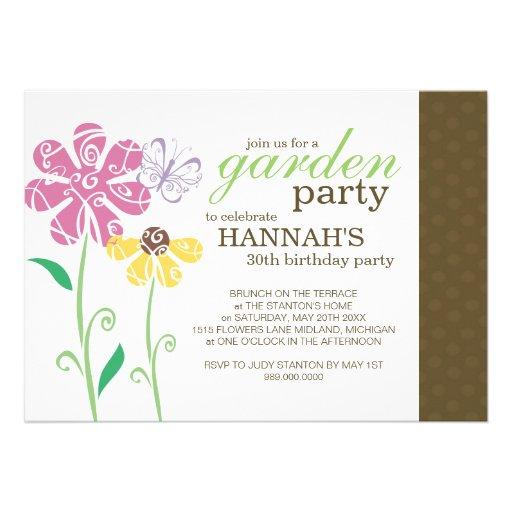 Personalized Garden parties Invitations – Garden Party Invitations