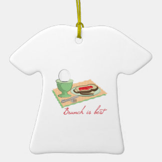 Brunch is Best Double-Sided T-Shirt Ceramic Christmas Ornament