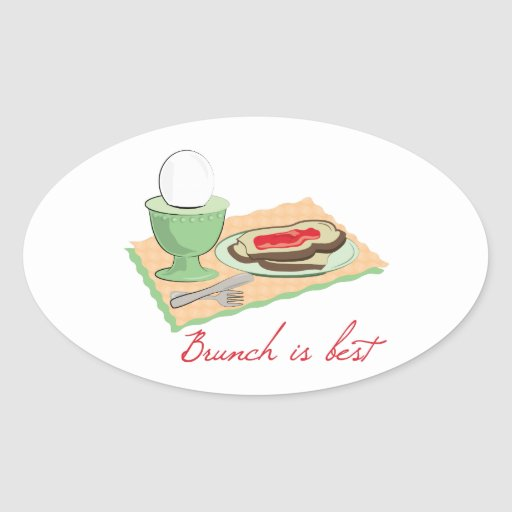 Brunch is Best Oval Stickers