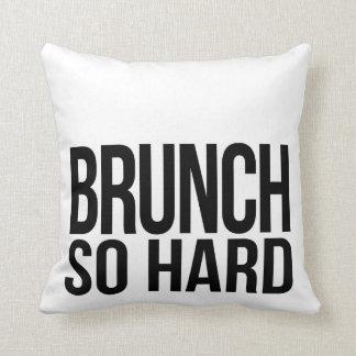 Brunch So Hard Black & White Pillow