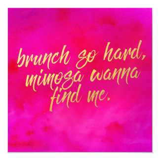 Brunch So Hard Invitation Pearl Shimmer Paper