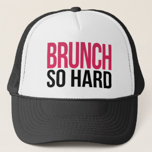 fd0c890bb19 Brunch So Hard Magenta   Black Trucker Hat