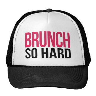 Brunch So Hard Magenta & Black Trucker Hat
