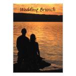 Brunch tropical del boda de la puesta del sol de invitacion personalizada