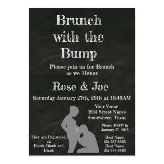 Brunch With the Bump chalkboard Card
