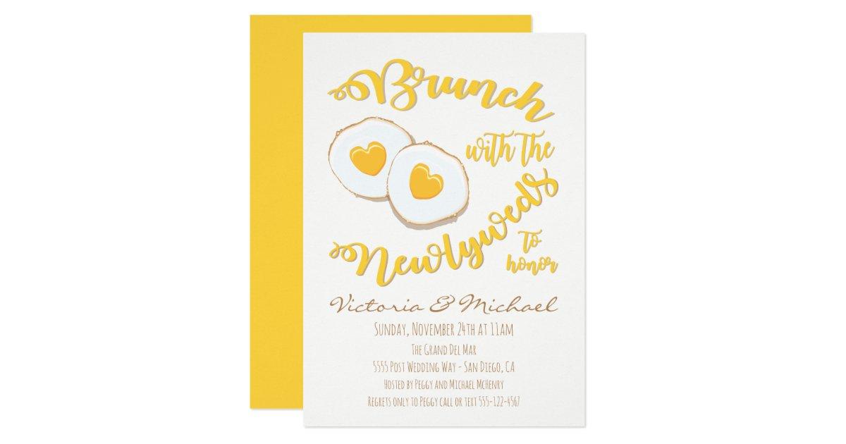 Post Wedding Brunch Invitation Wording: Brunch With The Newlyweds Post Wedding Invitation