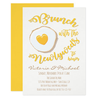 Brunch with the newlyweds Post Wedding Invitation