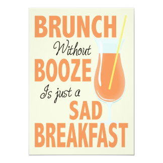 Brunch Without Booze Brunch Card
