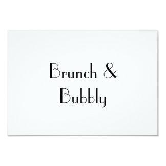 """Brunch y burbujeante, tarjeta de RSVP Invitación 3.5"""" X 5"""""""
