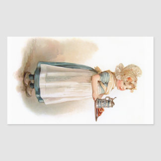 Brundage: A Knickerbocker Maid Rectangular Sticker