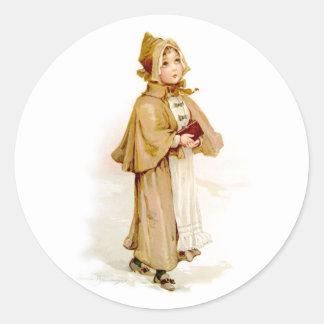 Brundage: A Young Puritan Classic Round Sticker