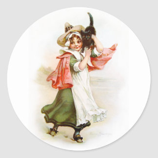 Brundage: Little Salem Witch Classic Round Sticker