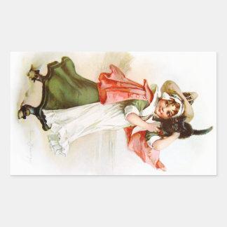 Brundage: Little Salem Witch Rectangular Sticker